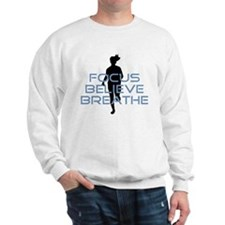 Blue Focus Believe Breathe Sweatshirt