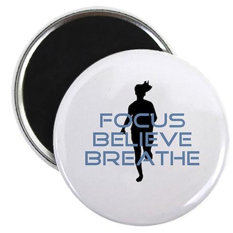 Blue Focus Believe Breathe Magnet