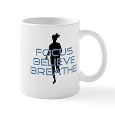 Blue Focus Believe Breathe Mug