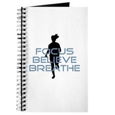 Blue Focus Believe Breathe Journal