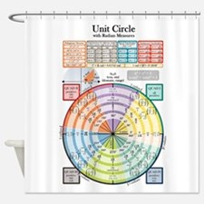 Unit Circle, Radians, Equations Shower Curtain