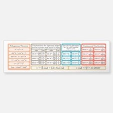 Trig Equations Bumper Bumper Sticker