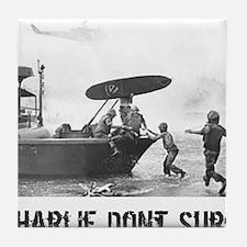 """""""Charlie Don't Surf"""" Tile Coaster"""