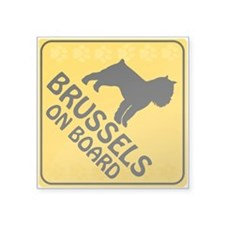 "Brussels On Board Square Sticker 3"" x 3"""
