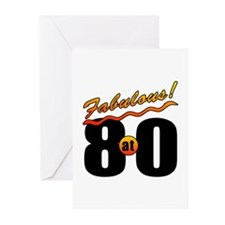 Fabulous At 80 Greeting Cards (Pk of 20)