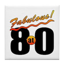 Fabulous At 80 Tile Coaster