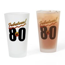 Fabulous At 80 Drinking Glass