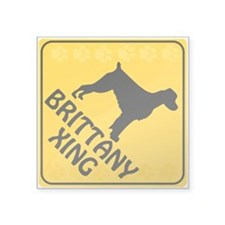 "Brittany Xing Square Sticker 3"" x 3"""