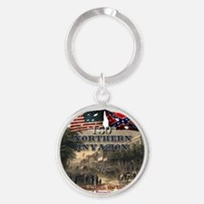 Northern Invasion Round Keychain