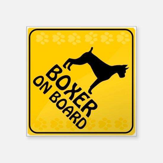 """Boxer On Board Square Sticker 3"""" x 3"""""""