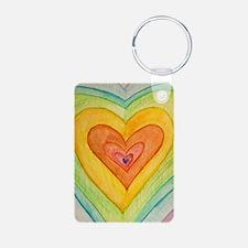 Rainbow Friendship Hearts Keychains