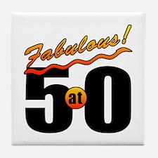 Fabulous At 50 Tile Coaster