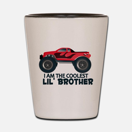 Coolest Lil' Brother Truck Shot Glass