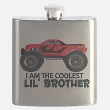 Coolest Lil' Brother Truck Flask