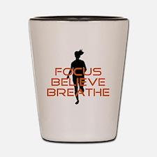 Orange Focus Believe Breathe Shot Glass