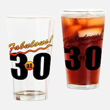 Fabulous At 30 Drinking Glass