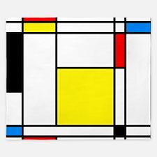 Mondrian Lines King Duvet