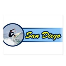 San Diego Surf Beach Postcards (Package of 8)