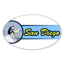San Diego Surf Beach Decal