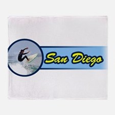 San Diego Surf Beach Throw Blanket
