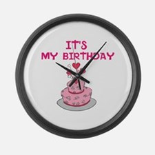 ITS MY BIRTHDAY Large Wall Clock