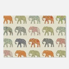 Elephant Colorful Repeati Postcards (Package of 8)