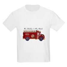 Daddy is my Hero - Fireman T-Shirt
