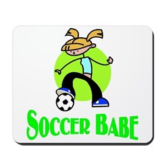 Soccer Babe Mousepad
