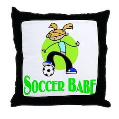 Soccer Babe Throw Pillow