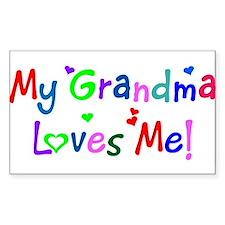 My Grandma Loves Me (des. #1) Sticker (Rectangular
