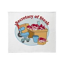 Secretary of Steak Throw Blanket