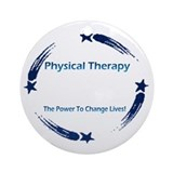 Physical therapist Round Ornaments