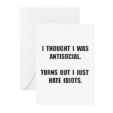Antisocial Idiots Greeting Cards (Pk of 20)