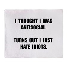 Antisocial Idiots Throw Blanket