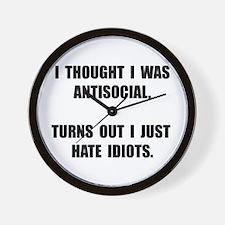 Antisocial Idiots Wall Clock