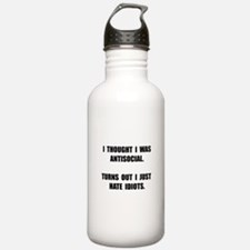 Antisocial Idiots Water Bottle