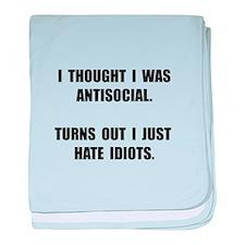 Antisocial Idiots baby blanket