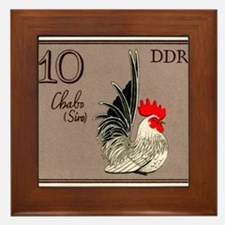 1979 Germany Chabo Rooster Postage Stamp Framed Ti