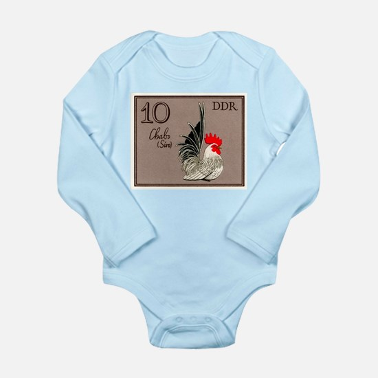 1979 Germany Chabo Rooster Postage Stamp Body Suit