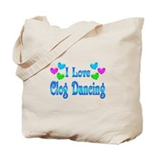 I Love Clog Dancing Tote Bag
