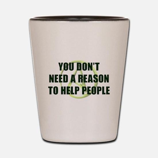 Help People Shot Glass