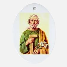 St. Joseph Oval Ornament