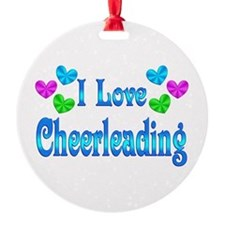 I Love Cheerleading Ornament