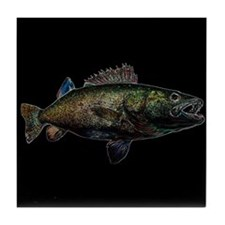 Walleye glow Tile Coaster