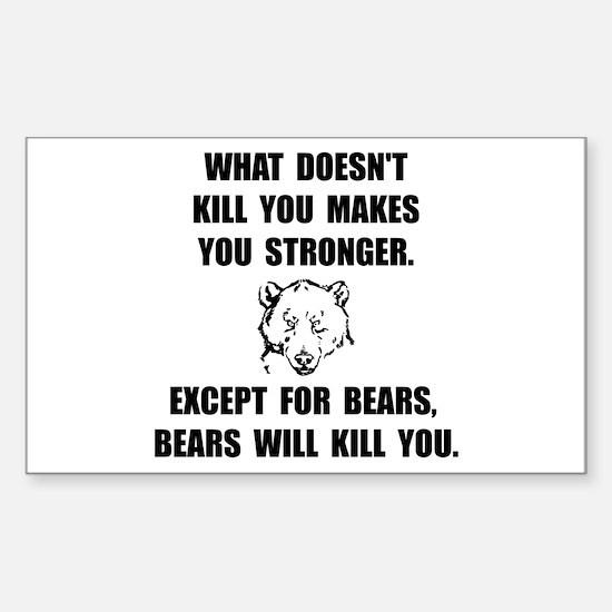Bears Kill Decal