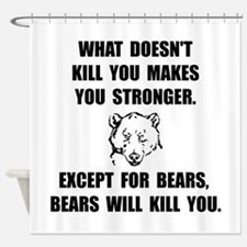 Bears Kill Shower Curtain