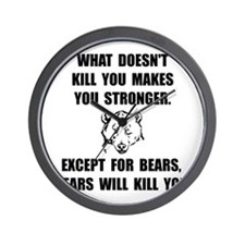 Bears Kill Wall Clock