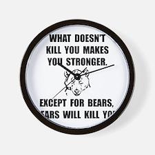 Bears Kill Wall Clock