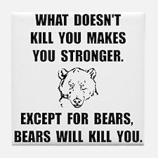 Bears Kill Tile Coaster