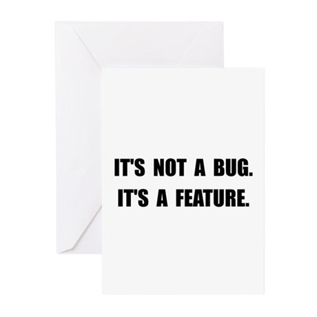 Bug Feature Greeting Cards (Pk of 10)